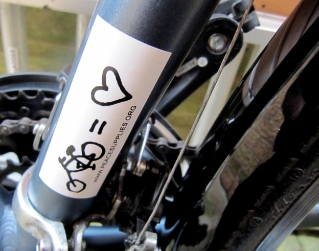 bike sticker on!