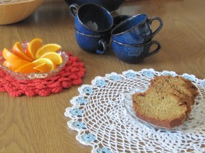 Tea with vintage crochet