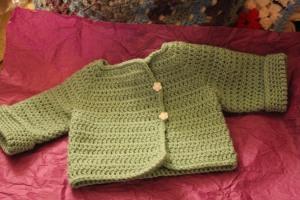 pale green baby cardi