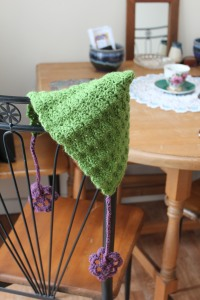 crocheted pixie hat